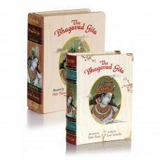 Bhagavad Gita With Wooden Box A6