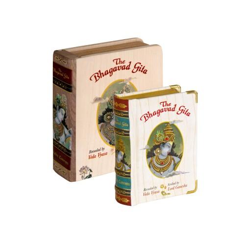 Bhagavad Gita With Wooden Box A7